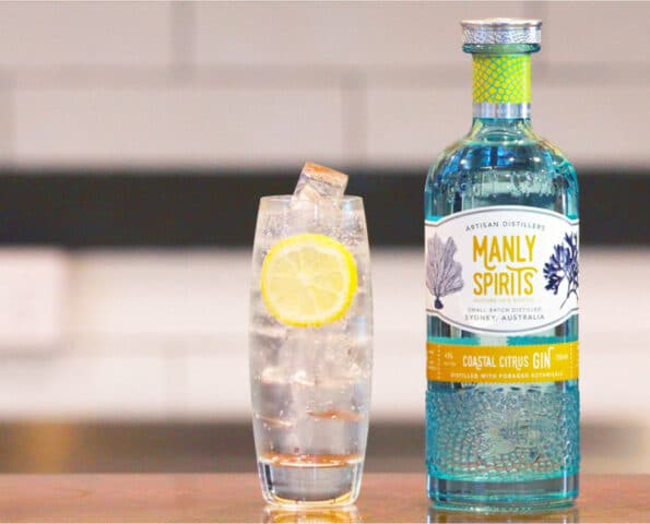 Manly Spirits Coastal Citrus gin: 93% rise in online sales